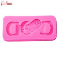 ручка ремня оптовых-Jialian Fashion belt buckle shape mould kitchen restaurant bar fondant silicon mold non-stick cake decoration F0010