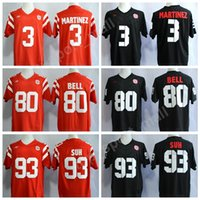 Wholesale red tens - Nebraska Huskers College 93 Ndamukong Suh Jersey Men Red Black 3 Taylor Martinez 80 Kenny Bell Cornhuskers Football Jerseys Stitched Big Ten