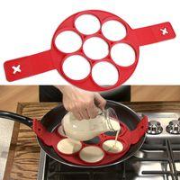 Wholesale Easy Egg - New Fashion Nonstick Pancake Maker Egg Ring Maker Perfect Pancakes Easy Silicone Egg Pancake Mold Egg Tools Kitchen Tools