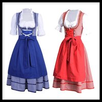 Wholesale Sexy Beer Dresses - Women Sexy Dirndl Serving Wench Bavarian Beer Oktoberfest Costume Festival Costume (S-XL)