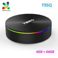 k film großhandel-Android-Box Amlogic S905X2 4 GB 64 GB T95Q Android 9.0 TV-Box-Unterstützung 5,8 G AC Wifi Bluetooth 4,1 1080 P 4 K 3D-Film-Streaming-Media-Player