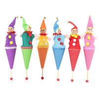 Wholesale hid kid resale online - Retractable Smiling Clown Hide Seek Play Jingle Bell baby Kids Funny Toy Random Color