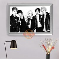 Wholesale Bangtan Boys BTS Canvas Poster Wall Art For Living Room Home Decoration Modern Europe Style Canvas Frame Custom H322ve19