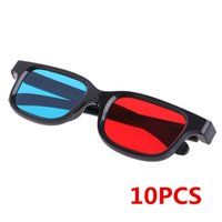 Wholesale Dvd Movie Wholesalers - 10Pcs Universal Black Frame Red Blue Cyan Anaglyph 3D Glasses 0.2mm For Movie Game DVD