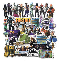 Wholesale nursery cars - 40Pcs set Fortnite Games Stickers PVC Decals Waterproof Sticker for Laptop Luggage Scooter Laptop Car Decoration NNA417
