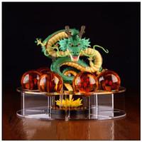 ingrosso set di regali di drago palle-7pcs / set Crystal Dragon Ball Toy 3.5 cm 7 stelle Sfere di cristallo Giocattoli Resina Drago Perline Regalo dei bambini Articoli novità CCA9534 10 set