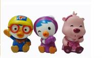 kostenloses baby-bad-set großhandel-Lassen Sie das Baby sich in das Bad pororo Baby-Pinguin-Wäschebad verlieben drei Sätze Wasserspielwaren reizende Spielwaren geben distri frei