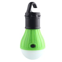 Wholesale green lantern battery - Soft Light Outdoor Hanging LED Camping Tent Light Bulb Fishing Lantern Lamp Green