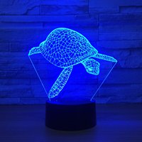 Wholesale turtle night light lamp for sale - Group buy Sear Turtle D Optical Illusion Lamp Night Light DC V USB Powered th Battery Dropshipping