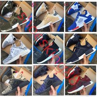 Wholesale Shoes Skulls - With box NMD XR1 Running Shoes Mastermind Japan Skull Fall Olive green Camo Glitch Black White Blue zebra Pack men women sports shoes 36-45