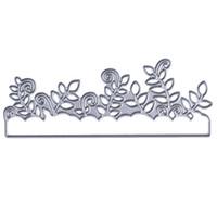 ingrosso tagli di erba-Taglio di foglie di metallo Taglio Muore Stencil per DIY Scrapbooking Album di foto Carta di carta decorativa Goffratura Taglio Taglio