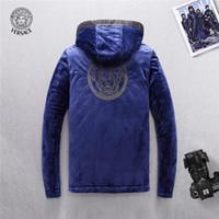 jugend winterhüte großhandel-Mann Baumwolle gefütterte Kleidung Lose Mantel Auch Hut Winterjacken Männer Trend Neue Muster Herrenbekleidung Jugend Koreanische Selbstzucht Erhöhung