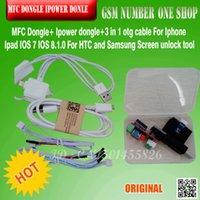 ipad otg kabel großhandel-Mfc-Dongle / Box Ipower-Dongle + 3 in 1 otg-Kabel für Iphone Ipad IOS 7 IOS 8.1.0 für HTC für Samsung-Schirm-Note Identifikation freies Verschiffen
