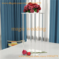 Acrylic Clear centerpiece Square Flower Stand of Wedding Event Table Decoration