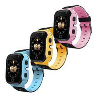 21f603200db T7 Crianças GPS Inteligente Pulseira Relógio SOS Chamada AGPS Rastreador  LBS Locator Com Câmera Smartwatch Suporte Cartão SIM Para iOS Android  Smartphone