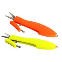 makas ipliği toptan satış-ABS Balık Iplik Makas Açık Mini Taşınabilir Teleskopik Clipper Emniyet Itme Plastik Saplı Olta Forfex 2 7gd WW