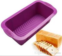 silikon-gummi-form diy groihandel-25 * 12 * 7,5 CM Silikonform für Kuchen Toast Brot Quadratische Form Backkuchen Maker DIY Toast Küche Werkzeuge Backformen