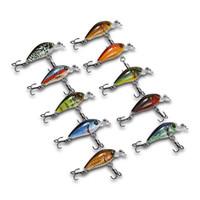 señuelos de pesca de bajo al por mayor-10 unids señuelos de pesca set Mini Crankbait señuelo de la pesca 2g Topwater Artificial Japón Hard Bait Minnow Swimbait trucha Bass Carp Fishing