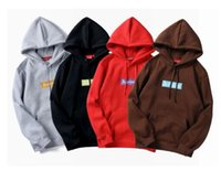 Wholesale Padded Hoodie - 2018 New Long sleeve men embroidery and velvet padded hood Sweatshirts Cute Boyfriend Style Harajuku thin Hoodies wholesale