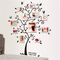 Wholesale tree wallpaper decoration - DIY Family Photo Frame Tree Wall Sticker Home Decor Living Room Bedroom Wall Decals Poster Home Decoration Wallpaper