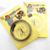 Wholesale hot funny games - 2018 Hot Sales Flowtoy Amazing Flow Ring Toys Game Spring Toy Funny Outdoor Game Intelligent Toy Fidget Spinner Metal
