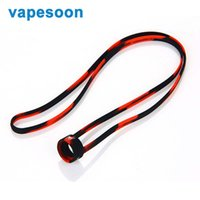 Wholesale E Cig Chain Lanyards - Vapesoon Universal Silicone Lanyard Neck Chain fit for 19mm-25mm E-cigarette Kit e-cig Mod Atomizer Vape Accessories