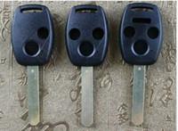 yamaha a distancia al por mayor-Para el control remoto de Honda Botón de tecla 2 botones / botón 3/4 botones Reemplazo Para modelos cívicos CRV accidentales carcasa de tecla recta
