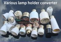 Wholesale g9 lamp socket resale online - E27 to E40 E27 B22 G9 G12 G5 MR16 GU10 G24 Lamp Holder Converter Single Head Conversion Lamp Base Screw Socket E27