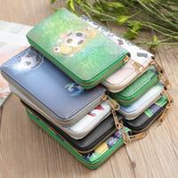 billeteras de fútbol al por mayor-el envío libre 14pcs 2018 nuevos regalos creativos de la cartera del fútbol de la taza de mundo de la mano dan a Srta. Card Package la bolsa del teléfono móvil.