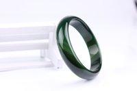 jade verde puro al por mayor-Brasil pura hierba verde verde modelos femeninos original color jade calcedonia pulsera cb27 #
