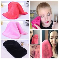 Wholesale makeup remover cotton pad - Microfiber Cloth Makeup Remover Towel Face Cleansing Cloth Facial Makeup Clean Pads Water Towel Tools 3 Colors AAA349