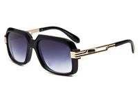 Wholesale Transparent Polarized Glasses - Germany fashion trend high-end glasses men women luxury brand sunglasses classic transparent frame vintage eyewear 607 lunettes with case