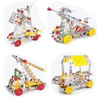 Wholesale 3d modelling tools online - 3D Assembly Metal Model Kits Toy Sling Giant Crossbow Unit Ladder Battering Ram Tools Accessories Construction Play Set