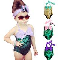 Wholesale Toddlers Swim Suits - Baby Girls Mermaid Bikini Suit Swimming Princess Costume Swimsuit kids toddler girls swimming suits 3styles FFA071