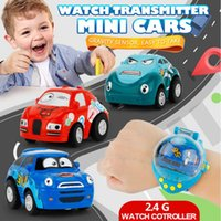 Wholesale rc toys for sale - Mini Cartoon Car Control Cars with Watch With G Novelty Children Remote Gravity Sensing RC Car Toy Party Favor AAA275