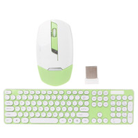 Wholesale Cute Mouse For Laptop - 2.4GHz Wireless Keyboard Mouse Combo Cute Round Key Quiet Keyboard Mouse Combo For Laptop Desktop PC