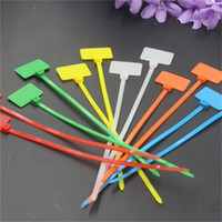 Wholesale colour ties online - Colour Mark Cable Tie Nylon Plastic Seal Net Seals Bundling The Inner Wire And Cable Of The TV Set sd dd