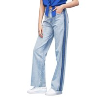 1c9324975530e Toyouth Jeans Pants Women 2018 Summer New Denim Jeans Casual Loose Light Blue  Wide Leg Pants Fashion Harajuku Straight Trousers