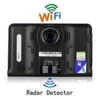 Wholesale google tablet gps - Udricare 7 inch GPS Android GPS Navigation DVR Radar Detector 16GB Disk AVIN support Rear View Camera WiFi Tablet Google Play