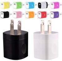 x mini şarj cihazı toptan satış-NOKOKO 12 Renkler 5 V 1A ABD USB AC Duvar Şarj Ev Seyahat Şarj Adaptörü Samsung Iphone 7 Için Mini USB şarj 8 x Akıllı Telefonlar mp3 pc