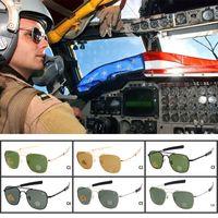 ingrosso occhiali da sole ao-Brand New AO Occhiali da sole Pilot Optical americani Occhiali da sole Pilot originali OPS Mens Army Occhiali da sole UV400 con custodia per occhiali