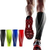 función de fútbol al por mayor-Calf Compresión Función Manga Correr Deportes Ciclismo Calcetines Calentadores de la pierna Hombres Mujeres Fútbol Protector de calcetines Shin Guard 1 UNIDS