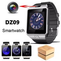 embalagem de pulseira venda por atacado-Dz09 smart watch gt08 relógios pulseira android assista inteligente sim inteligente gsm telefone móvel sono estado smartwatch com pacote de varejo