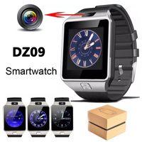 gsm akıllı telefonlar saat toptan satış-Dz09 smart watch gt08 saatler bileklik android izle akıllı sim akıllı gsm cep telefonu uyku durumu smartwatch perakende paketi ile