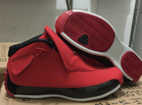 Wholesale 18 thread - New 18 Toro Gym Red Black Men Basketball Shoes 18s Toro Red Sneakers With Shoes Box