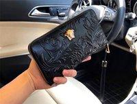 большие кошельки для мужчин оптовых-Новый модный дизайнер кошелек 9911 квадратный большой мужской кошелек на молнии кожаный высококачественный портативный кошелек с коробкой