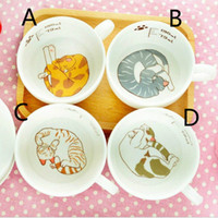 Wholesale coffee mug gift set for sale - Group buy New Design ml Cute Cat Cartoon Mug Set Catlike Milk Breakfast Cup Ceramic Cups And Plates Coffee Cup Heat Resistant Cup Gift