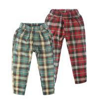 ingrosso pantaloni di stile dei nuovi ragazzi-Classico Plaid Kids Pants 2018 Primavera Casual Boys Pantaloni per bambini Pantaloni Inghilterra Style Girls New Brand Abbigliamento Boy / Girl