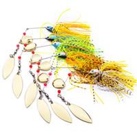 señuelos de pesca de aleación al por mayor-Borlas de aleación de barba de la borla señuelos de pesca 18g cequis de cebo de metal artificial de colores compuestos hacen un ruido fuerte 3 8sb w