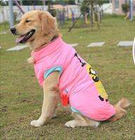 ingrosso giacca gialla cane-Vestiti dell'animale domestico La gente gialla di golden retriever samoyed husky il grande cane copre la giacca del cappotto di inverno di autunno trasporto libero